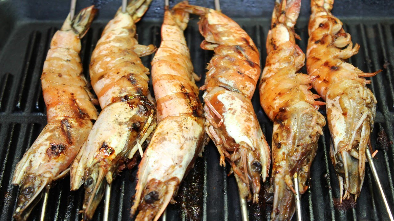 طريقة عمل الجمبري المشوي بتتبيلة مميزة - Grilled Shrimp