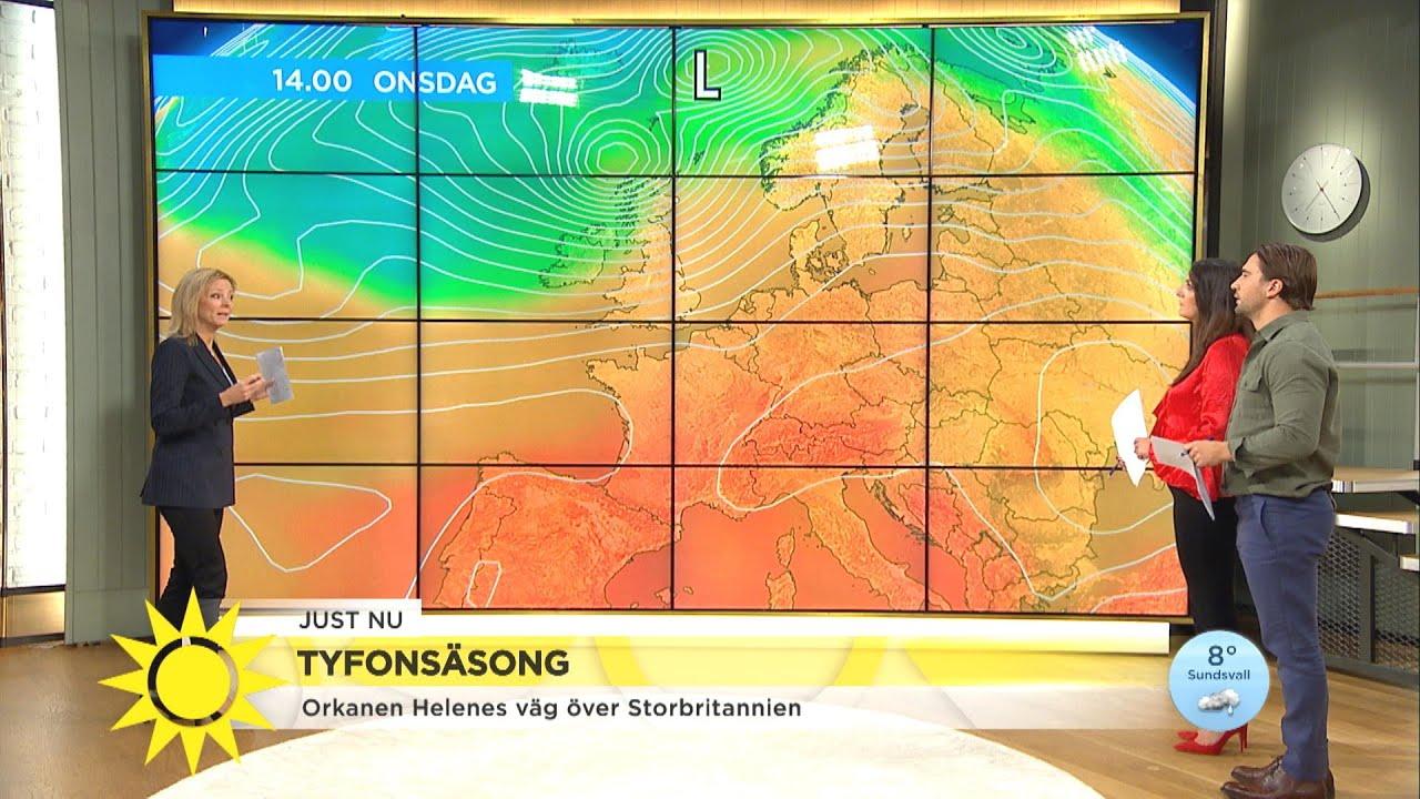 Före detta orkan ger värmevåg i Skandinavien - Nyhetsmorgon (TV4)