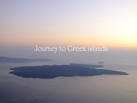 Greek islands with ambient music