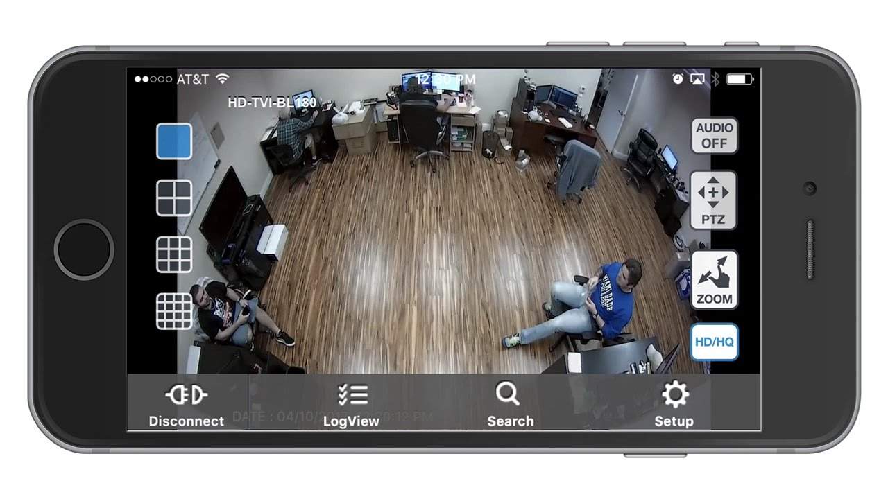 View HD Security Cameras on iDVR-PRO iPhone App