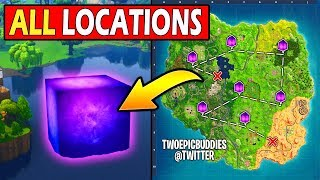 ALL CUBE RUNE LOCATIONS! *FOUND* Fortnite HEADING FOR LOOT LAKE (R.I.P)