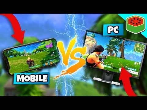 Playing Mobile VS PC In Fortnite: Battle Royale
