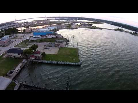 Kemah Seabrook Waterfront - Drone