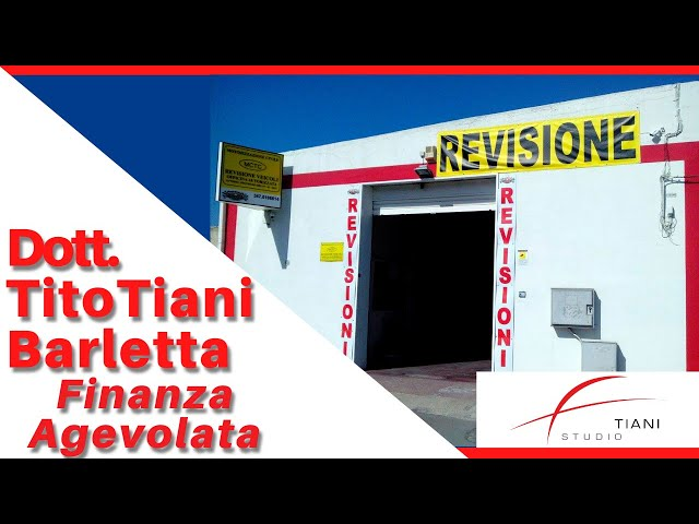 COMMERCIALISTA BARLETTA TITO TIANI - FINANZA AGEVOLATA STUDIO TIANI - PIT STOP