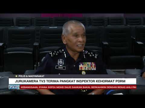 Jurukamera TV3 Terima Pangkat Inspektor Kehormat PDRM