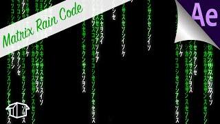 Die Matrix Regnet-code-Effekt Tutorial für After Effects CC