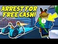watch he video of ARREST ME FOR FREE CASH!! Volt Bike Race and Train Robbing! (Roblox Jailbreak New Winter Update)