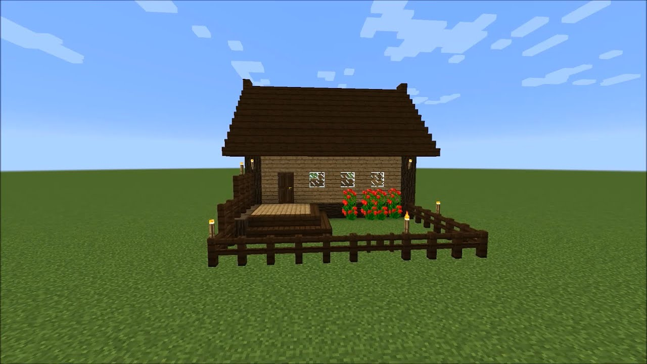 Easy wooden house in Minecraft