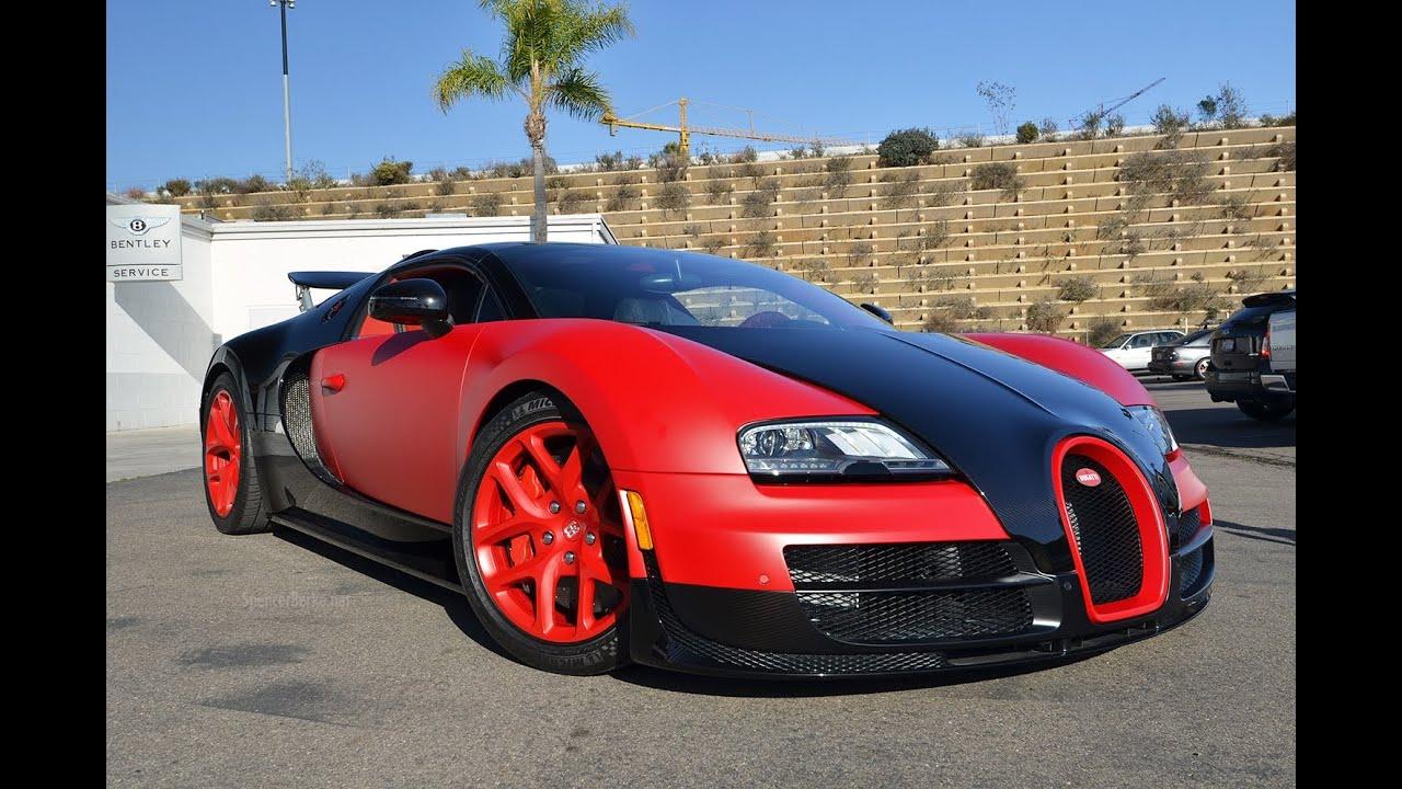 Matte Red Bugatti Vitesse Delivery Bugatti San Diego Raw Footage
