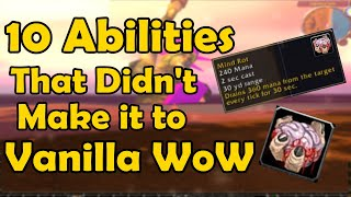10 Curious Abilities in WoWs Beta that Didn't Make it to Vanilla WoW