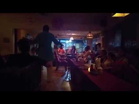 Live music and dancing in Zorba Organic restaurant in Rishikesh, India