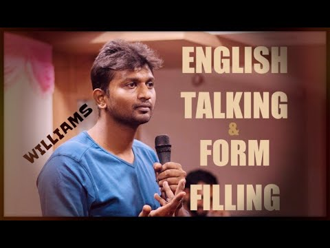 English Talking & Form Filling | Standup Comedy by Williams | CPU - Coimbatore