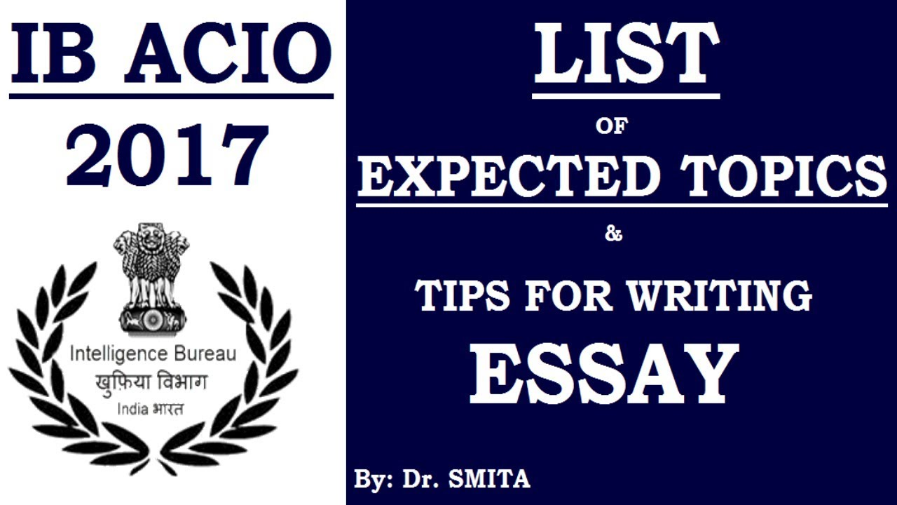 expected essay topics for ib acio exam 2013