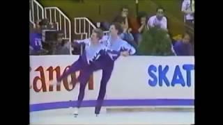 Лариса Селезнёва и Олег Макаров. Олимпийские игры в Калгари. 1988 год.