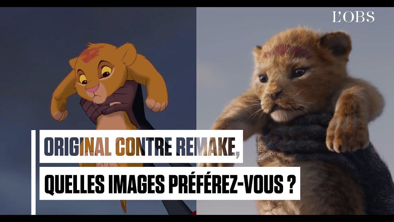 """On a comparé les images du nouveau """"Roi Lion"""" avec celles du dessin animé"""