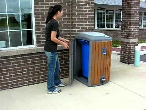 Kingston Outdoor Pedal Trash Can  YouTube