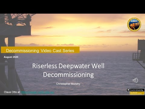 Riserless Deepwater Well Decommissioning