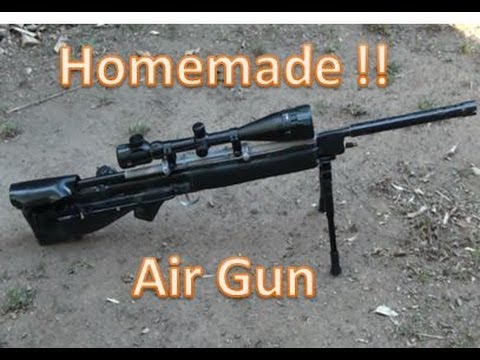 HOMEMADE Air Power Sniper Rifle  Basic Tutorial PVC Air gun POWERFUL !!