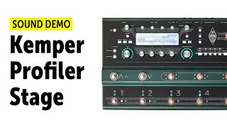 Kemper Profiler Stage - Sound Demo (no talking)