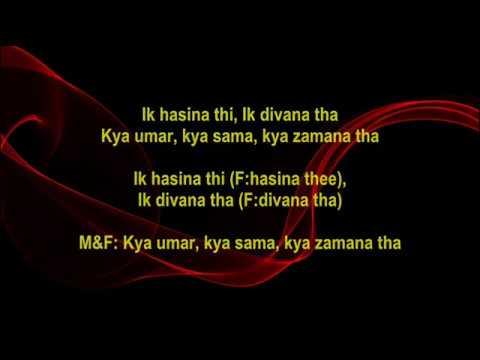 Ik Hasina Thi  - Karz - Full Karaoke