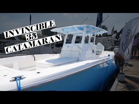 Invincible 33 Catamaran Walkthrough
