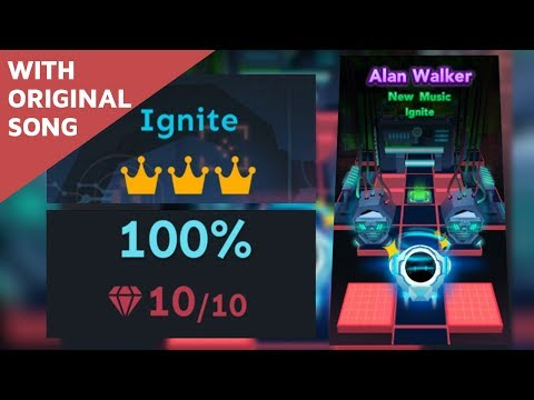 Rolling Sky Level 23 Ignite(Original Song) 100% Clear All Gems & Crowns Alan Walker | SHA