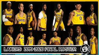 Los Angeles Lakers Final Roster 2019-2020 (LakeShow)
