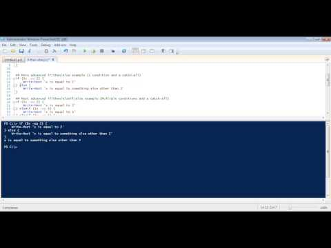 Powershell: Learn how to use the If/Then/Else Powershell construct
