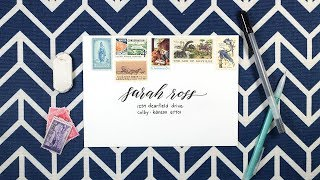 How to Address an Envelope (Simple, Chic, and Perfect for Lettering Beginners!)
