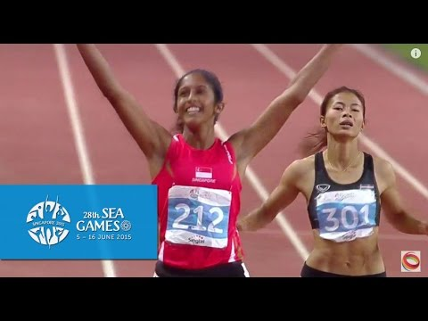 Athletics Women's 200m Finals  (Day 5) | 28th SEA Games Singapore 2015