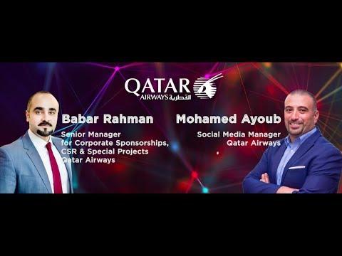 Babar Rahman I Senior Manager, Mohamed Ayoub I Social Media Manager, Qatar Airways
