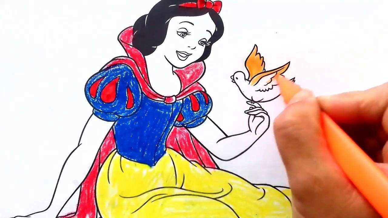 Pamuk Prenses Boyama Ciz Ve Boya Youtube