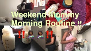 MORNING ROUTINE WITH A NEWBORN // WEEKEND ROUTINE //