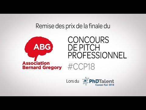 Remise des prix du Concours de Pitch Professionnel ABG 201780 #CCP18