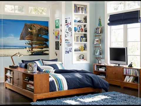 Amazing Room Design Ideas for Teenage Boys - YouTube on Cool Bedroom Ideas For Teenage Guys With Small Rooms  id=44345