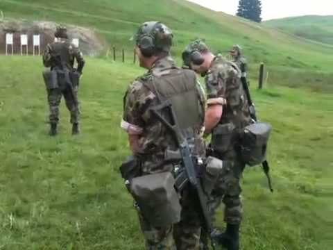 Swiss army shooting training