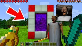 Minecraft GRANNY - How To Make a Portal To The Granny Horror Dimension!