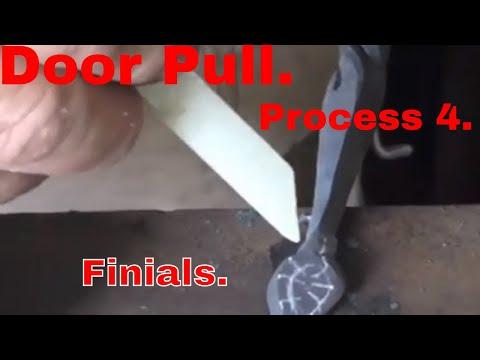 Door Pull. Process 4. Forming the finials.