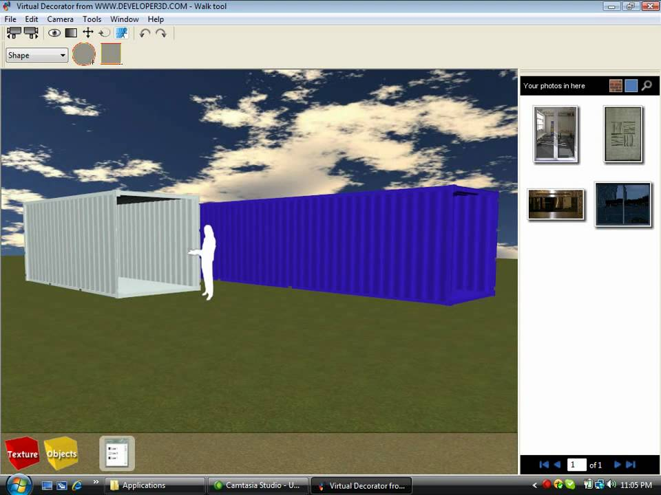 Shipping container house design software tutorial youtube for Container home design software
