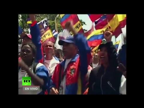 """Maduro y Cabello participan en la """"Gran Movilización Antiimperialista"""" en Caracas"""