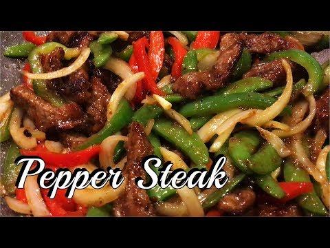 PEPPER STEAK RECIPE | HOW TO COOK PEPPER STEAK | PepperhonaTV
