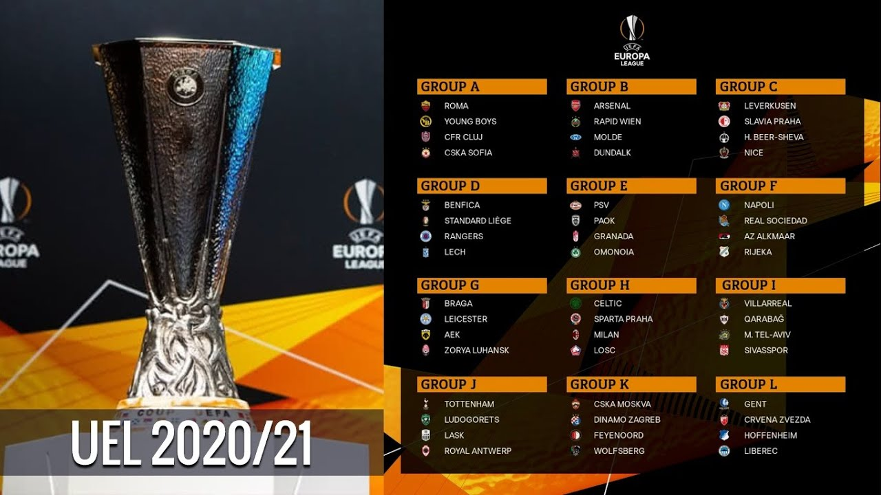 uefa europa league 2020 21 draw result group stage youtube uefa europa league 2020 21 draw result group stage