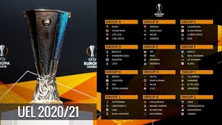 The folowing is draw result of uefa europa league 2020/2021 group stagegroup aas roma young boys cfr cluj cska sofiagroup barsenal rapid vienna molde dun...
