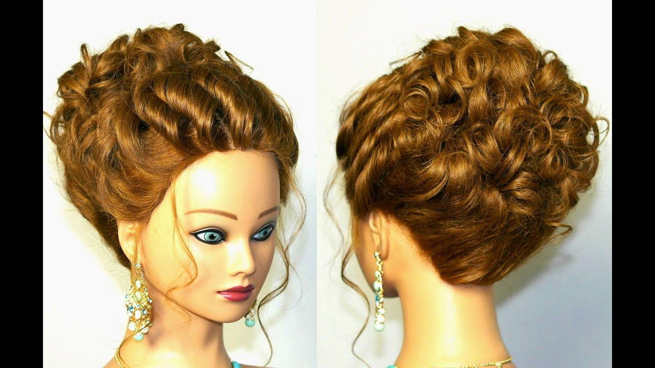 Wedding  hairstyle  for medium long hair  Romantic updo