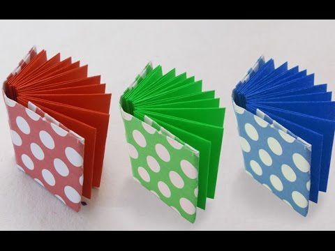 Diy project ideas how to make a mini origami book kids for How to make simple crafts at home