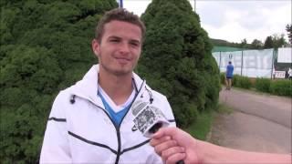 Ondřej Krstev po prohře v prvním kole na turnaji Futures v Ústí n. O.