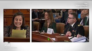WATCH: Rep. Elise Stefanik's full questioning of Vindman and Williams | Trump impeachment hearings