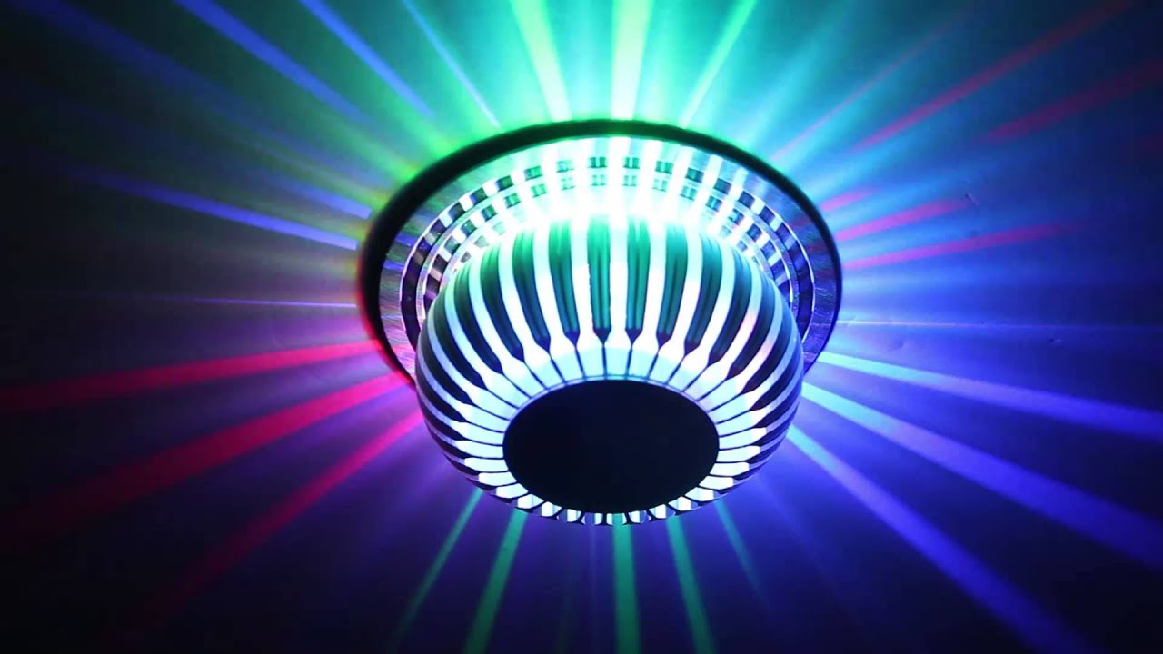 Led wandlampe wandleuchte deckenleuchte deckenlampe rgb 3w for Deckenlampe mit led