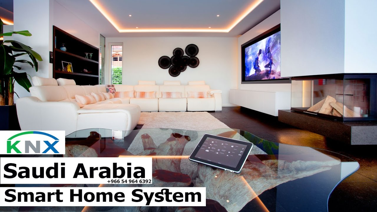 knx eib smart home system demo for your villa now in saudi. Black Bedroom Furniture Sets. Home Design Ideas