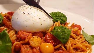 초간단 정말 맛있는 토마토폭탄 부라타치즈 파스타 Cre…